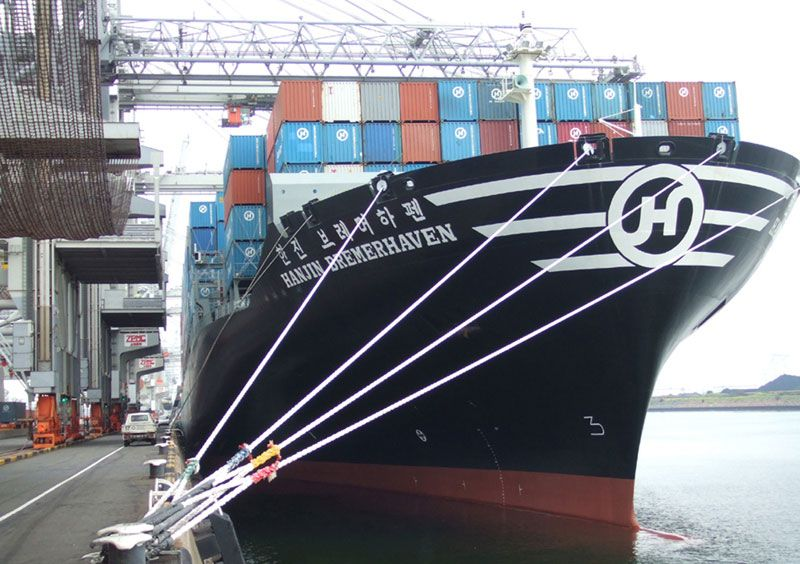 Hanjin ship at port
