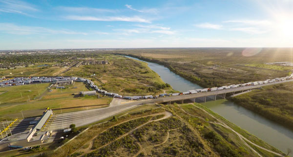 The Laredo International Cross-Border station linking Mexico and the U.S.