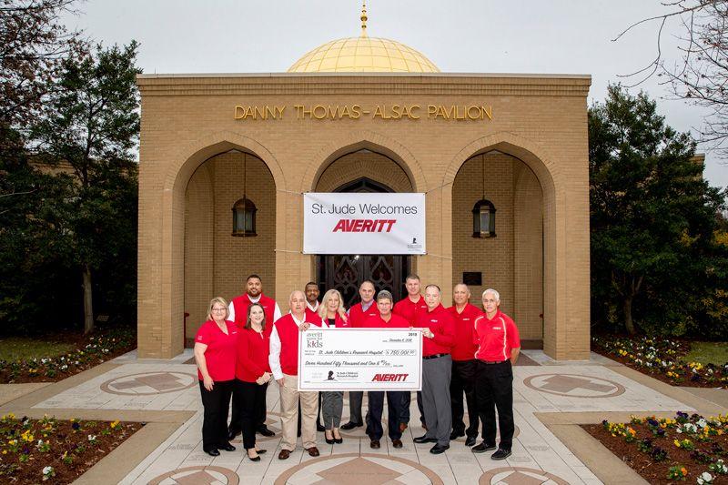 Averitt Cares For Kids Donates $750,001 To St. Jude