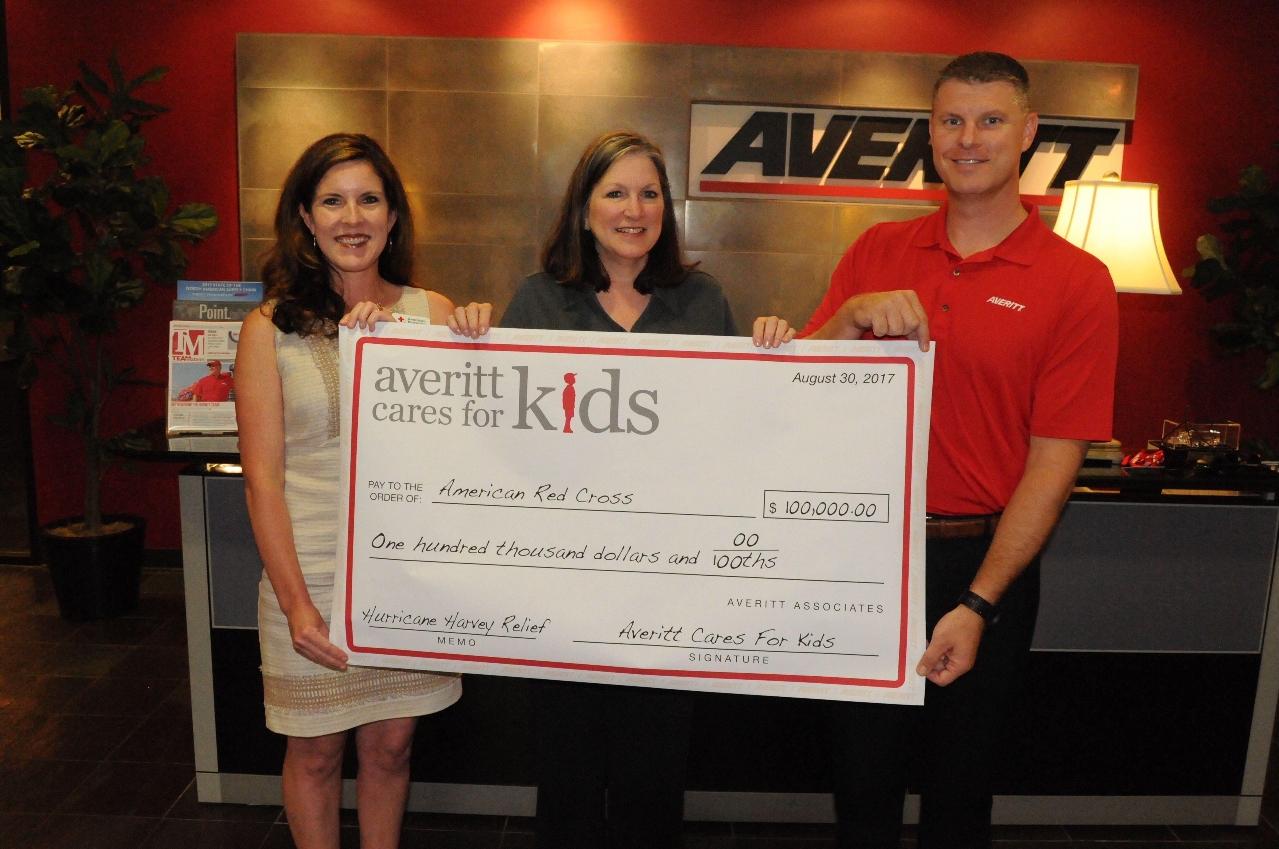 Averitt Cares for Kids Hurricane Harvey Red Cross Donation