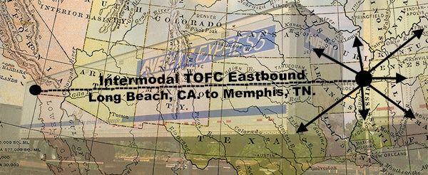 intermodal eastbound tofc to memphis